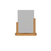 PFT-TE-LA Επιτραπέζια θήκη A4 φυλλαδίων, 7 x 27 x 32 cm, teak, SECURIT