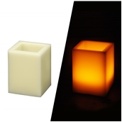 MCS-904 Ηλεκτρικό κερί που τρεμοπαίζει, με περίβλημα κεριού, Φ7,5x7,5x10 cm