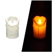 STR007/USB Επαναφορτιζόμενο Ηλεκτρικό κερί με κινούμενη φλόγα, Φ6,5 x 10,5 cm