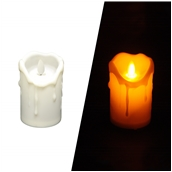 STR007 Ηλεκτρικό κερί με κινούμενη φλόγα,πλαστικό περίβλημα, Φ6,5 x 10,5 cm