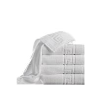T480PG/30X50 Πετσέτα χεριών λευκή με σχέδιο μαίανδρος 30 x 50 cm, 480gr/m², Πενιέ