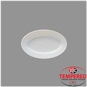 TOL-OP-22 Πιατέλα Οπαλίνης Οβάλ 22x14,2 cm, Λευκή, Tempered, Σειρά Toledo, Bormioli Rocco