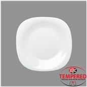PRM-FP-27X27 Πιάτο Οπαλίνης Ρηχό 27x27 cm, Λευκό, Tempered, Σειρά Parma, Bormioli Rocco