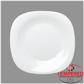PRM-FP-31X31 Πιάτο Οπαλίνης Ρηχό 31x31 cm, Λευκό, Tempered, Σειρά Parma, Bormioli Rocco