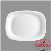 PRM-OP-24X34 Οβάλ Πιατέλα Οπαλίνης 24x34 cm, Λευκή, Tempered, Σειρά Parma, Bormioli Rocco