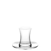 ZENS1X Γυάλινο Φλυτζάνι Φ6,5x9,5cm 15.5cl με πιατάκι 14cm, ARTCRAFT-LAV