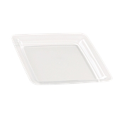 INJPLSQCL2320C10 Πιάτο Ρηχό 23 x 23 cm, Διάφανο, PS, Μίας Χρήσης, Σειρά mozaik, Sabert