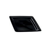 INJPLSQBK1820C10 Πιάτο Ρηχό 18 x 18 cm, Μαύρο, PS, Μίας Χρήσης, Σειρά mozaik, Sabert