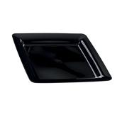 INJPLSQBK2320C10 Πιάτο Ρηχό 23 x 23 cm, Μαύρο, PS, Μίας Χρήσης, Σειρά mozaik, Sabert