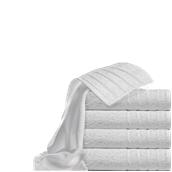 T550PN/30X50 Πετσέτα χεριών λευκή με ρίγες στις άκρες 30 x 50 cm, 550gr/m², Πενιέ