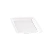 INJPLSQWH1820C10 Πιάτο Ρηχό 18 x 18 cm, Άσπρο, PS, Μίας Χρήσης, Σειρά mozaik, Sabert