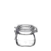 FIDO-500 Δοχείο FIDO 500 ml με γυάλινο καπάκι και λάστιχο, Bormioli Rocco, Ιταλίας
