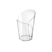 6043-21 Πλαστικό ποτηράκι - μπωλάκι κωνικό BLOSSOM, PS 100cc διαφανές