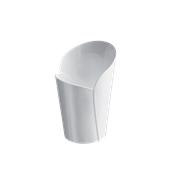 6043-11 Πλαστικό ποτηράκι - μπωλάκι κωνικό BLOSSOM, PS 100cc λευκό