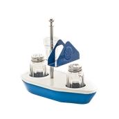 M.040005 Σετ αλατοπίπερα, οδοντογλυφίδες, χαρτοπετσέτες, Βαμμένο Μπλε-Άσπρο