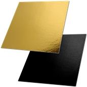 DM-40X0/BK-GD Δίσκος-Βάση Τούρτας Χάρτινη Τετράγωνη 40x40cm σε χρυσό και μαύρο χρώμα, Ιταλίας (τιμή ανά κιλό)