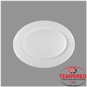 TOL-OP-30 Πιατέλα Οπαλίνης Οβάλ 30x22,5 cm, Λευκή, Tempered, Σειρά Toledo, Bormioli Rocco