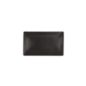 NOIR.190.20 Ορθογώνιο Πιάτο πορσελάνης SUSHI (μαύρο) 20.3x17x2cm