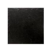 ARD.3030 Τετράγωνη Πιατέλα Πορσελάνης Χειροποίητη (με όψη σχιστόλιθου), 30x30x0.7cm, μαύρη