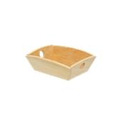 000.124/LT Ξύλινη Ψωμιέρα Βάρκα 16x13x6 cm, Ανοιχτό καφέ