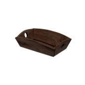 000.169/DK Ξύλινη Ψωμιέρα Βάρκα 20x14.5x6 cm, σκούρο καφέ