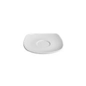 EC005080000 /A Πιατάκι κούπας Πορσελάνης 12x12cm, SANDY, λευκό