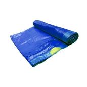 RBH-5275/BL/185gr Ρολό 10 τεμ. μπλε σακούλες σκουπιδιών, απορριμμάτων 52x75cm με κορδόνι