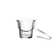 116-001 Γυάλινο δοχείο Πάγου με λαβίδα