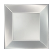 8056-81 Πιάτο φαγητού XL πλαστικό PP τετράγωνο 29x29cm λευκό ΠΕΡΛΕ, πολυτελείας