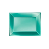 8051-86 Πιατέλα πλαστική PP ορθογώνια 28x19cm πράσινη ΠΕΡΛΕ, πολυτελείας