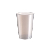 2770-91 Πλαστικό ποτήρι PS μίας χρήσης 23cl λευκό ΠΕΡΛΕ πολυτελείας