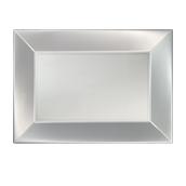 8055-81 Πιατέλα πλαστική PP ορθογώνια 34.5x23cm λευκή ΠΕΡΛΕ, πολυτελείας