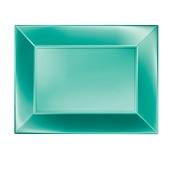 8055-86 Πιατέλα πλαστική PP ορθογώνια 34.5x23cm πράσινη ΠΕΡΛΕ, πολυτελείας