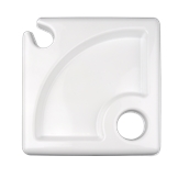 1007-11 Πιάτο φαγητού πλαστικό κυματιστό 23x23cm λευκό, πολυτελείας