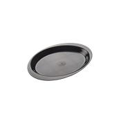 2742-19 Πλαστικό πιατάκι PS 185mm μαύρο