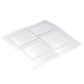 6300 Δίσκος-Πιάτο (4 τμήματα) πλαστικό PS 35x36cm δαφανές πολυτελείας