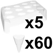 VS6032-21 Πακέτο 5 βάσεις + 60 κώνοι FingerFood 40cc, πολυτελείας