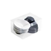 6015BC-1119 Πλαστικό πιατάκι - μπωλάκι SODO PS 50cc Δίχρωμο, Μαύρο-Άσπρο