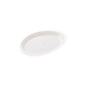 2742-11 Πλαστικό πιατάκι PS 185mm λευκό
