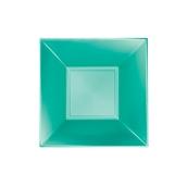 8057-86 Πιάτο σούπας πλαστικό PP τετράγωνο 18x18cm πράσινο ΠΕΡΛΕ, πολυτελείας