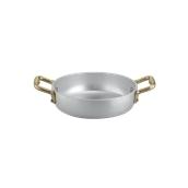 1566014 Σωτεζάκι αλουμινίου 14cm, με 2 χρυσό χερούλια, Ιταλικό