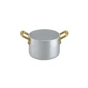 1565010 Κατσαρολάκι βαθύ αλουμινίου 10cm, με 2 χρυσό χερούλια, Ιταλικό