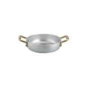 1566012 Σωτεζάκι αλουμινίου 12cm, με 2 χρυσό χερούλια, Ιταλικό