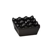 K-2012/BLACK Αντιανεμικό τασάκι μελαμίνης, 9x9x4cm, μαύρο