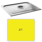 FLG-2/1 Καπάκι δοχείου γαστρονομίας ανοξείδωτο 18/10, GN2/1 (65x53cm), FUECO