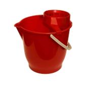 VS.KB/RD Κουβάς πλαστικός 13L με στύφτη, Κόκκινος, Ελληνικής Κατασκευής