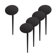 TAG-BUBBLE-5 Σετ 5 τεμάχια μίνι οβαλ ταμπελάκια καρφωτά, 18x8x0.3 cm, με 1 μαρκαδόρο
