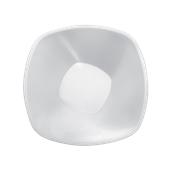 4058-11 Πιάτο σαλάτας πλαστικό PS τετράγωνο 21cm, 1.25 lt άσπρο πολυτελείας.