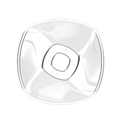 5058-21 Πιάτο σαλάτας πλαστικό PS τετράγωνο 21cm, 1.25 lt διαφανές πολυτελείας.