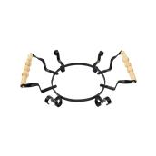 312318 Μεταλλική Βάση κεραμικής πιατέλας 25cm, με ξύλινα χερούλια